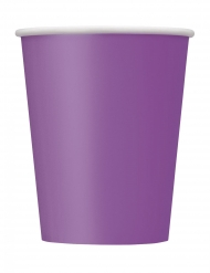 8 lila pappmuggar 266 ml