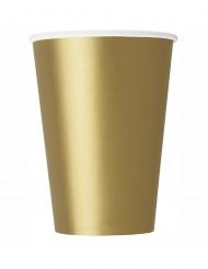 14 Guldfärgade pappmuggar 266 ml