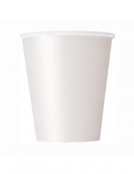 8 Vita pappmuggar 266 ml