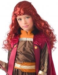Röd nordisk prinsessperuk barn