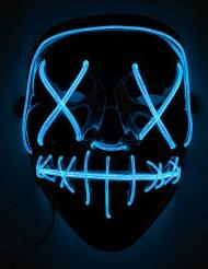 Blå LED-mask