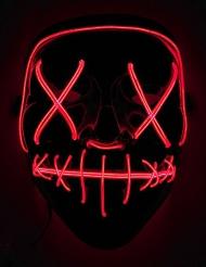 Röd LED-mask vuxen