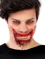 Zombiesmink blodigt köttsår mun 24x10 cm