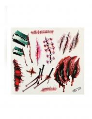 Tillfälliga tatueringar blodiga sår och klor