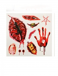 Tillfälliga tatueringar öppna sår