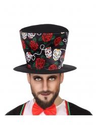 Hög svart hatt för de dödas dag vuxen
