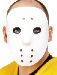 Vit hockeymask vuxen