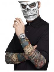 2 Ärmar med tatueringar Dia de los Muertos