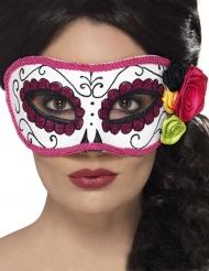Dia de los Muertos Rosa dam-mask