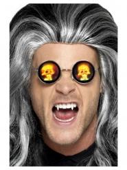 Holografiska glasögon med dödskallar vuxen