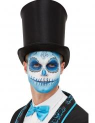 Blått sminkset för Dia de los Muertos