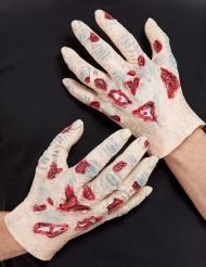 2 Zombiehänder av latex vuxen