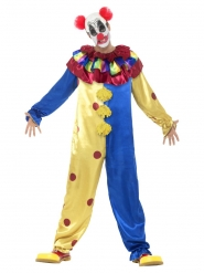 Blågul clowndräkt vuxen