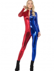 Sexig blåröd overall