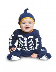Blå skelettdräkt för småbarn