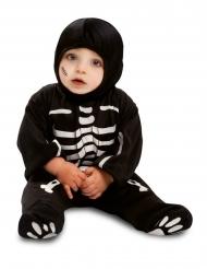 Svart skelettoverall för småbarn