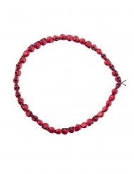 Halsband med röda dödskallar vuxen 54 cm