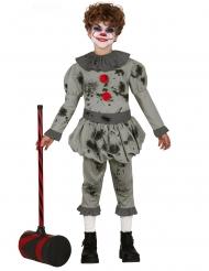 Grå psykopatclown barndräkt