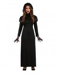 Svart gotisk damdräkt