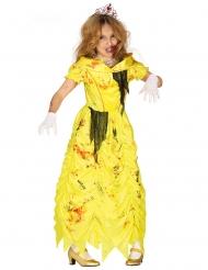 Zombifierad gul prinsessdräkt barn