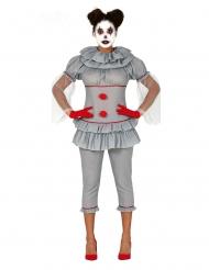 Galen clowndräkt med byxor dam