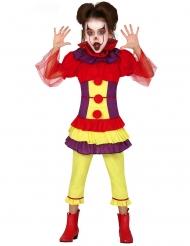 Läskig clowndräkt barn