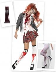 Dräktpaket zombie-skolflicka dam