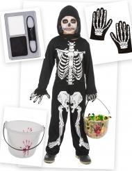 Paket med skelettoverall barn och tillbehör