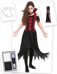 Paket med vampyrdräkt barn och tillbehör