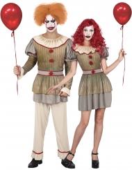 Herr & Fru cirkusclown pardräkt vuxen