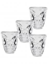 4 Shotglas med dödskallar 50 ml