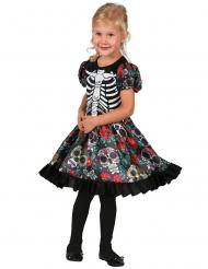 Dia de los Muertos förgglad barnklänning