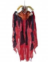 Hängande dekoration med läskig clown 65 cm