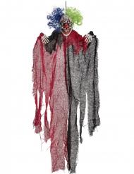 Hängande dekoration rödsvart clown 65 cm