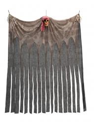 Piratgardin med dödskalle 200x150 cm