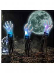 3 Lysande händer på pinnar 60 cm