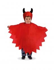Poncho med mössa djävul barn