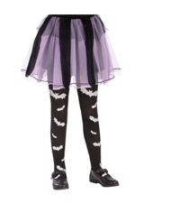 Svarta tights med vita fladdermöss flicka