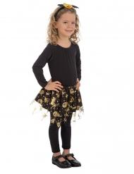 Svart ballerinakjol med guldmönster barn