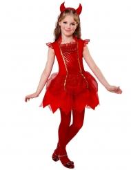 Röd djävulsklänning barn