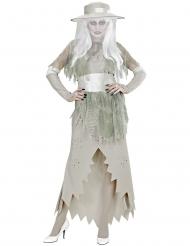 Vita Damen spökdräkt dam