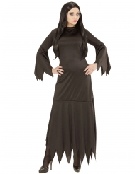 Gotisk svart damdräkt