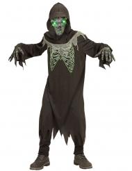 Svartgrön skelettdräkt barn