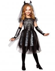 Svartvit skelettklänning barn