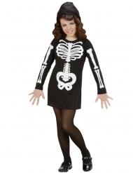 Glamourös skelettdräkt barn