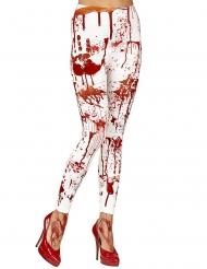 Vita damleggings med blodstänk