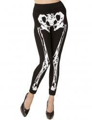 Leggings med skelettmönster dam