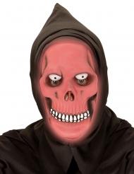 Röd dödskallemask med huva vuxen