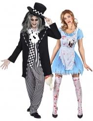 Alice och Hattmakare gotisk pardräkt