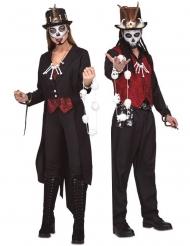 Voodooprästerna Kal & Ada pardräkt vuxen